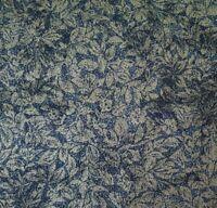 Shimmer BTY Moda Classic Moda Metallic Pewter Floral Windsor Blue