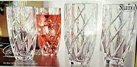 Set of 4 Shannon Crystal Highball Water Glasses 10 oz Crosswinds by Godinger