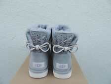 UGG ADORIA TEHUANO PENCIL LEAD MINI BAILEY BOW SHEEPSKIN BOOTS, US 7/ EUR 38 NIB