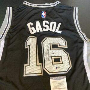 Pau Gasol Signed Authentic Adidas San Antonio Spurs Jersey With Beckett COA