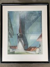 LYONEL FEININGER Listed Artist, Rare Original Lithograph Germany Abstract Cubism