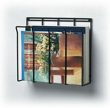 Wall Mount Wire Magazine Rack Newspaper Caddy Mount Holder Storage Organizer
