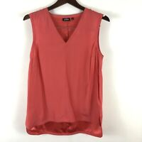 Kate Spade Saturday M Coral Silk Blend Tank Top Blouse Pullover Shirt Medium