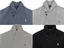 Polo Ralph Lauren Men's Shawl-Collar Neck Pony Logo Ribbed Sweater Pullover NWT