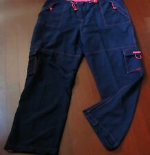 Womens Action Sportswear Plus Cargo Pants Adjustable Waist & Leg 18/20 W