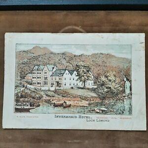 1895 SCOTISH TOURIST BROCHURE W/MAPS IN COLOR LOCH LOMOND AREA PLUS HOTELS