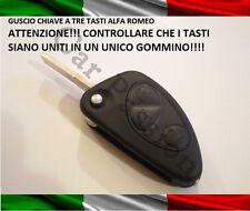 COVER CHIAVE GUSCIO ALFA ROMEO 156 166 GT 147 TELECOMANDO 3 TASTI UNITI INSIEME
