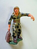 Vintage Marx Plastic Toy Soldier U.S. Army Carrying 50 LB Ammo Can
