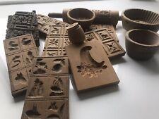 13 geschnitzte Holzmodel, unterschiedliche Formen