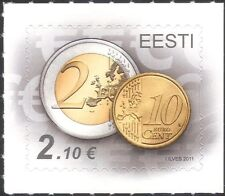 Estonia 2011 Euro Currency/Coins/Money/Commerce/Business 1v s/a (ee1203)