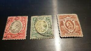 3 FRANCOBOLLI USATI 1903 UGANDA EAST AFRICA