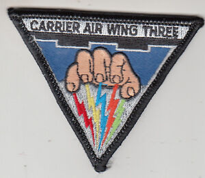 CARRIER AIR WING THREE COMMAND SMALL CHEST PATCH