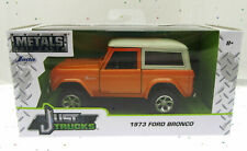 1973 Ford Bronco ~ Orange ~ Die Cast Metal ~ Just Trucks