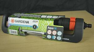 NEW Gardena 18702 Aqua M Oscillating Sprinkler For Medium-Sized Lawn Irrigation