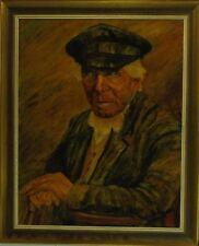 """Norddeutsche Künstler Alfred Eden-Bant """"Portrait des Berend Janßen Eiben""""Öl,1935"""