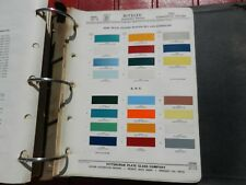 1962 Comercial Ford and GMC paint chip page PPG Ditzler