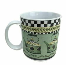 "Debbie Mumm Weathervane Coffee Mug Cup Sakura Country Folk Art Red Barn 3.5/""MINT"