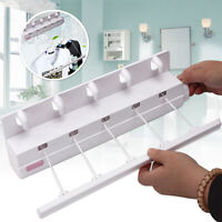 5 Line Pull Out Retractable Airer & Hanger Washing Clothes Laundry Bracket Wall