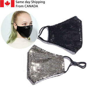 Bling Fashion Face Mask Sequin Glitter Cover/FREE SHIPPING Washable Reusable
