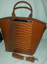 Croc Print Synthetic Outer Handbags
