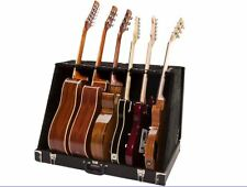 Road Runner 6 Universal Guitar Stand Case Rack for Acoustic Electric Bass, Black