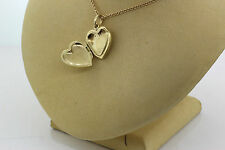 Tiffany & Co. 14k Yellow Gold Heart Locket Pendant on Necklace 8.4g