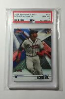 2018 Bowman's Best Ronald Acuna Jr #51 Base Rookie Card RC PSA 10 Gem Mint