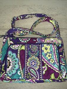 Vera Bradley HEATHER Pattern Little Hipster Crossbody Bag Pre-Owned