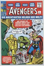 AVENGERS # 1 - GERMAN REPRINT / VARIANT - STAN LEE - MARVEL - GOLD-STAMP - TOP