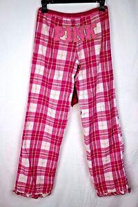 PINK by Victoria's Secret Women's XS Plaid Pajama Lounge Bottoms
