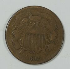 1865 Two-Cent Piece VERY GOOD 2-Cents
