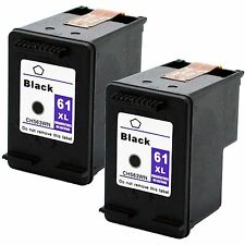 2x 61XL High Yield Black Ink Cartridges for HP Deskjet 2543 2544 3000 3050 3050A