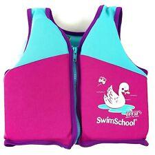 Swim School Trainer Vest Level 2 Age 4 - 6 Years 50 lb Max UPF 50 Pink