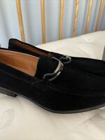 Stacy Adams Neville Moc Toe Bit Loafer (Men's Shoes) in Black Suede - NEW