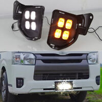 LED DRL Daytime Running Lights Fog light Driving Bumper Fit For Toyota Hiace 14+