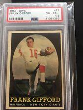 1958 Topps Football SETBREAK #73 Frank Gifford New York Giants PSA 4.5 VG-EX+