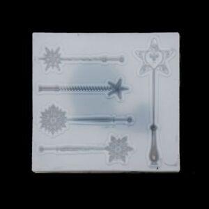 Magic Stick Fairy Wand Silicone Mold  Epoxy Fondant Resin Jewelry Pendant Making