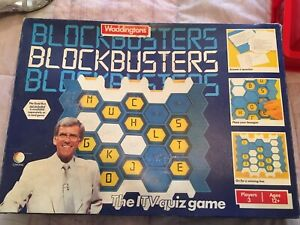 BLOCKBUSTERS THE TV QUIZ GAME BY WADDINGTONS 1986.
