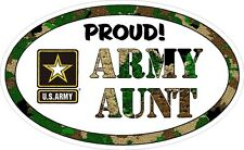 ARMY AUNT MILITARY VINYL DECAL PROUD