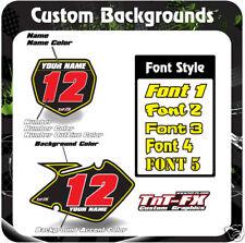 Custom Suzuki MX Number Graphics RM85 RM125 RM250 RMZ ALL YEARS