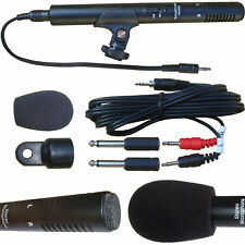 SHOTGUN MICROPHONE FOR CANON NIKON VIDEO CAMERA CAMCORDER DSLR DV 3.5mm STEREO