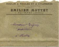 MEYMANS enveloppe émilien MOTTET moulin à meules et à cylindres farines