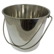 ACCIAIO Inossidabile Metallo Secchio 12 Litri Cibo Catering Cucina Chef VINO GHIACCIO VASCA