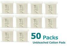 MUJI UNBLEACHED 100% Organic Cotton Facial Pads 180 sheets x 50 packs Lot Set
