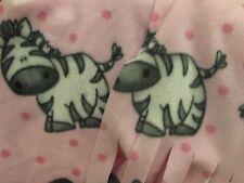 Zebra Pink Girl Child Youth Scarf Muffler Fringed Fleece Neckwarmer Black White