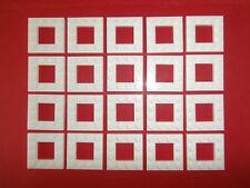 LEGO CITY  20 Bauplatten 6167450 / 64799 weiß 4x4 Noppen mit Loch 2x2 Noppen NEU