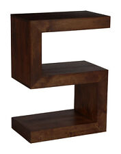 LIVING ROOM FURNITURE DARK SOLID MANGO FURNITURE SIDE TABLE (H36D)