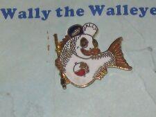 Vtg Home Of Wally The Walleye Pin Pinback On Card Garrison ND North Dakota Fish
