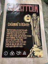 "Led Zepplin "" Stairway To Heaven "" Promo Poster"