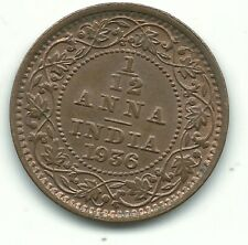 A HIGH GRADE 1936 INDIA 1/12 ANNA COIN-AGT607